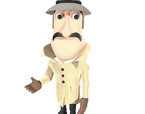 rigged Inspector clouseau and Basketball Guy 3D