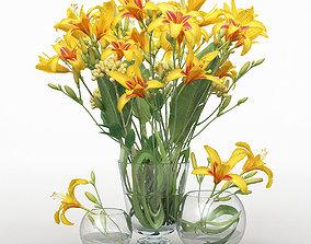 3D Daylilys flower