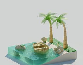 Beach Fragment 3D model