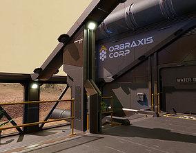 3D model Sci Fi Scientific Research Lab Facility Modular