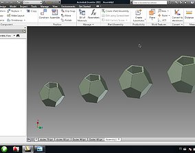 3D printable model 4 Flower pot dodecahedron height 60 - 5