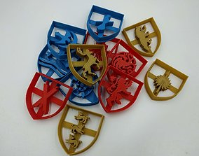 Game of thrones cookie cutters 3D print model