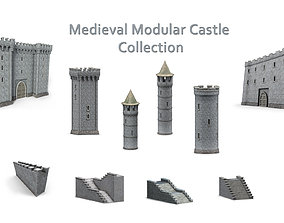 Medieval Modular Castle Collection 3D model