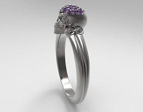 3D print model 0519 Skull Ring - Stones