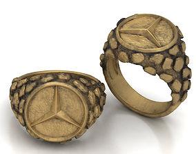 3D printable model Mans Signet ring with Mercedes emblem