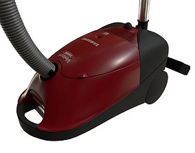 3D model Samsung Vacuum Cleaner Red - Houshold Appliance