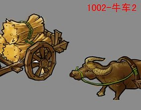 Game City - Oxcart 12 3D model