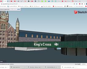 Kings Cross St Pancras London underground 3D model 3