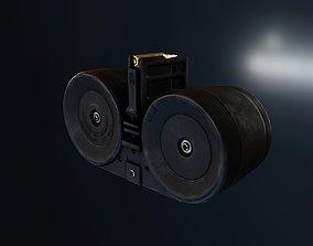 3D asset HK XM8 G36 Drum Magazine