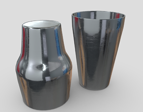 3D Cocktail Shaker Open 2