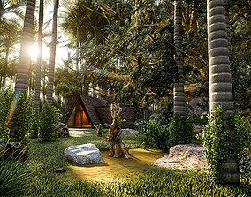 3D model Forest House Lumion Scene