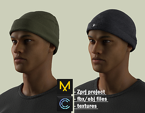 3D model Military Ribbed Hats