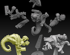 3D printable model Nautiloid Horror Medium Carapace