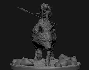 3D print model Princess Mononoke Moro and San