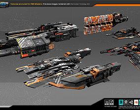 3D asset Federation Fleet Pack02