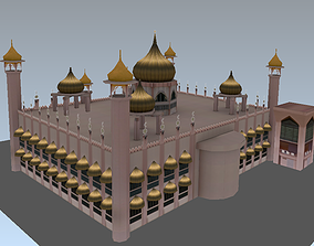 3D asset VR / AR ready Lowpoly mosque model