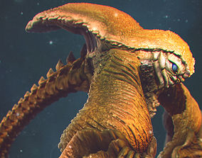 scary 3D model Sea Creature - Highpoly
