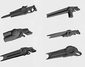 3D printable model Six guns from future