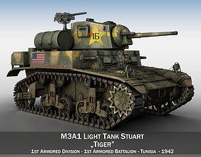 M3A1 Light Tank Stuart - Tiger 3D model