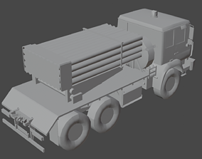 BM-21 Grad 3D vehicle