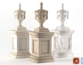 Classic vase for decorating the facade 3D