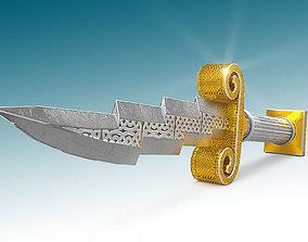 3D asset Zeus Dagger Low-Poly