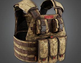 Military Tactical Soldier Vest 08 - MLT - PBR 3D model 1