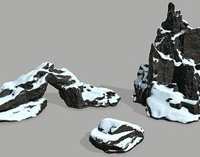 mountain Rock set 3D asset realtime