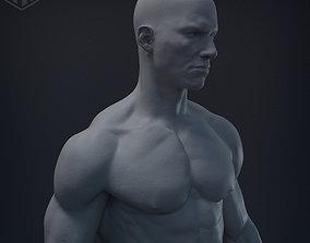 Male body 3D printable model erotic