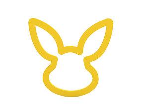 Napkin ring 3D print model bunny