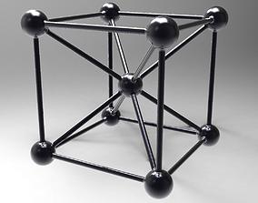 Cube with diagonals 3D model