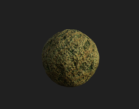 Rough stone ground 4K PBR texture material 3D