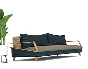 wood 3D model Sofa Cole Design