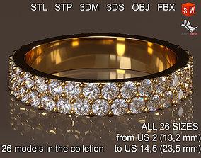 3D printable model Infinity ring stones