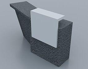3D model Modern Reception desk