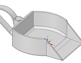 dustpan with 2 handle dust scoop 3d-print and cnc