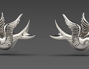 3D printable model Sparrow earrings