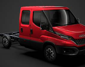 3D model Iveco Daily Crew Cab L2 Chassis 2020