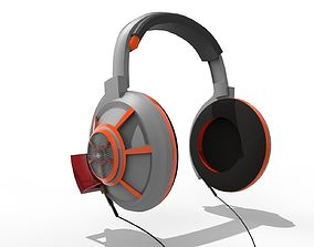3D model headphone ear