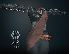 3D model Female Ninja Outfit 3