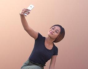 Iona 10620 - Black Woman Crouching Taking Selfie 3D model