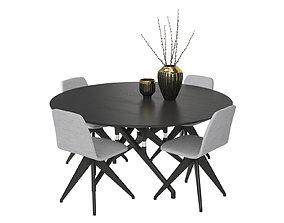 3D Table Potocco Italy Torso 837-T4W and chair Torso