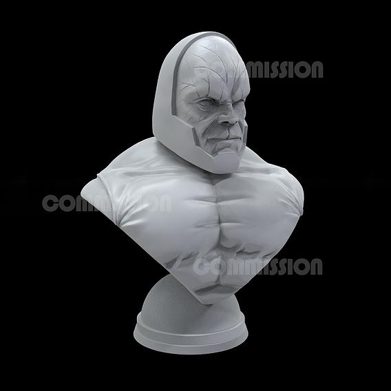 Darkseid 3D sculpture