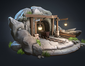 Old Mine Scene 3D model