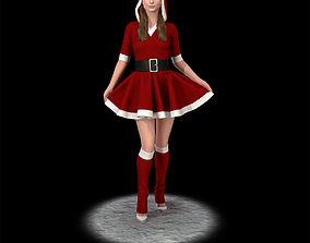 Santa girl cute santa 3D printable model
