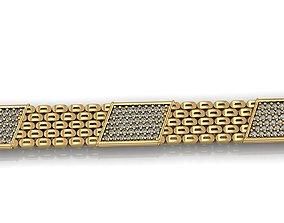 GENTS DIAMOND JOLLY BRACELET LINK 3D print model