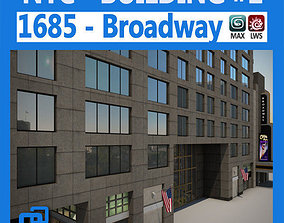 3D model NYC Building 1685 Broadway Theater