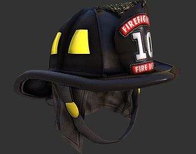 Firefighter Fireman Helmet Gear 3D asset