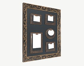 Wall frame decor with photo frames 3D model