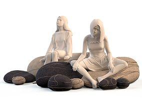 3D Outdoor cushion stones factory Smarin 3